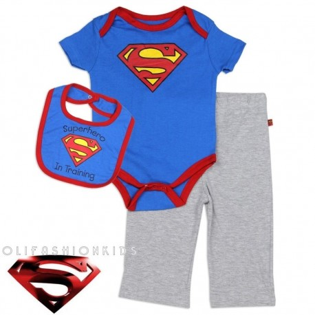 BABY BOYS SUPERMAN 3PC SET