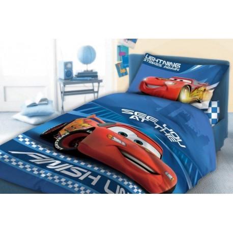 Cars cot bed bedding set