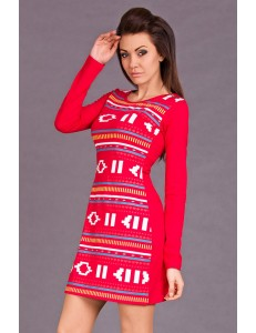 HHG I13-031 SPAIN DRESS - RED 5633-1