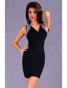 EVA & LOLA DRESS - BLACK 5304-1