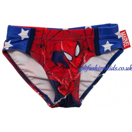 c7eb862991799 Marvel Spiderman Boys Swimming Briefs, Swim Trunks - Olifashionkids