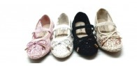 LACE BALLERINA FLAT SHOES