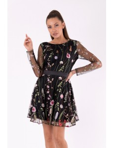SOKY SOKA  DRESS BLACK 49009-1