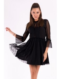 SOKY SOKA  DRESS BLACK 49006-1