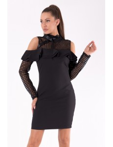 SOKY SOKA  DRESS BLACK 49005-1