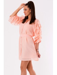 DRESS -POWDER PINK 48026-1