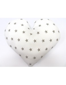 Heart with stars pillow