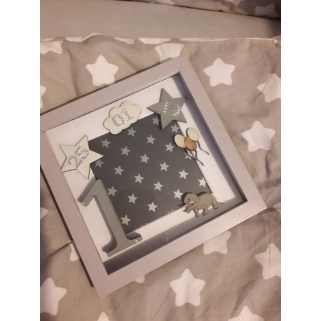 Personalised photo frame/initial gift box
