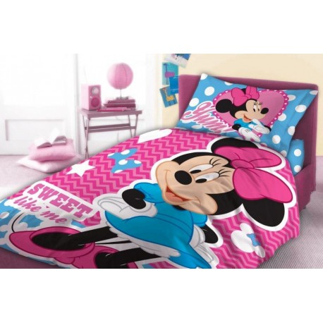 Minnie mouse cot bed bedding set