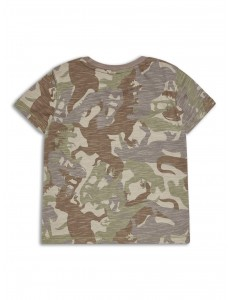 Dinosaur military boys t shirt