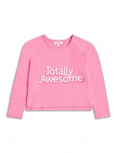 """Totally Awesome""Girls cropped sweatshirt"