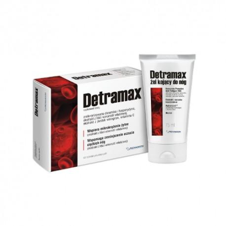 DETRAMAX - 60 tabletek + żel chłodzący do nóg - 75 ml GRATIS