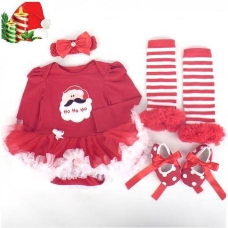 Baby Girls Santa 4Pcs