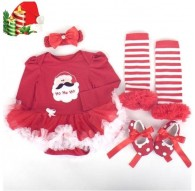 Baby Girls Santa 4Pcs