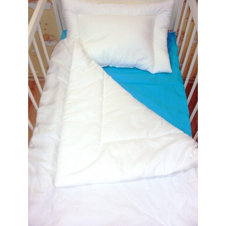 Cot bed set 120 x 60 cm quilt and pillow