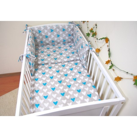 Cot bed bedding with bumper set stars