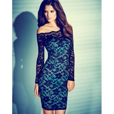 Elegant Evening Lace Dress