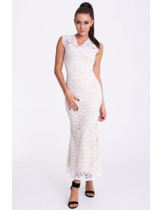 EMAMODA DRESS - WHITE cream-17005-3