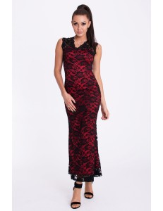 EMAMODA DRESS - RED-BLACK 17005-1
