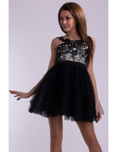 EVA & LOLA DRESS - BLACK 10008-1