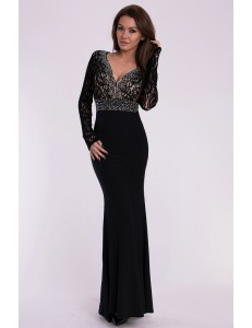 EVA & LOLA DRESS - BLACK 10007-1