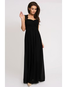 EVA & LOLA DRESS - BLACK 9711-1