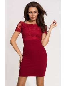 EMAMODA DRESS - Maroon 9703-4