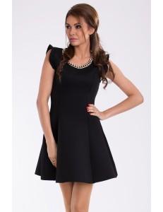 PINK BOOM  DRESS - BLACK 9605-2