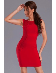 EMAMODA DRESS - RED 9413-1