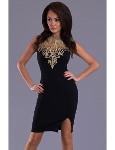 EMAMODA DRESS - BLACK-GOLD 6404-8