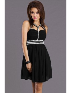 EVA & LOLA DRESS - BLACK 6811-3