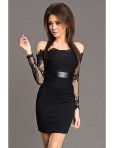 EMAMODA DRESS - BLACK 5702-3