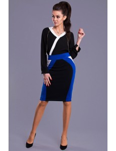 EMAMODA  SKIRT -BLUE 8013-1