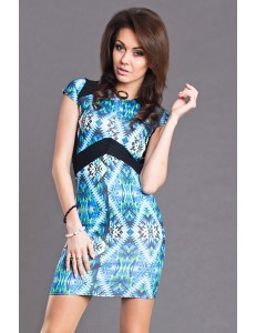 AYANAPA DRESS -  BODYCON STYLE -BLUE 6106-1