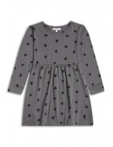 Jersey dress black heart