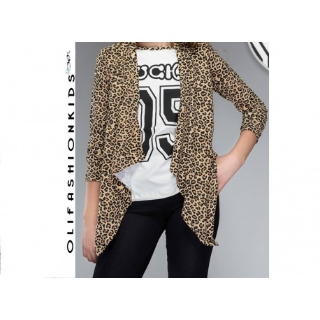 LEOPARD CAPE With TOP