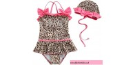 2PCS Girls Leopard Swimsuit